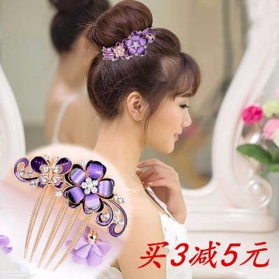 28款发梳插梳新娘盘发发夹弹簧夹母亲礼品五齿梳发簪发卡饰品发饰