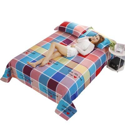 学校床单家纺床裙单件绒四件套粗布被罩单人高架床床笠加厚全棉缎