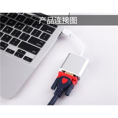 mini dp转vga 转接线苹果mac surface电脑雷电接口投影仪转换器器