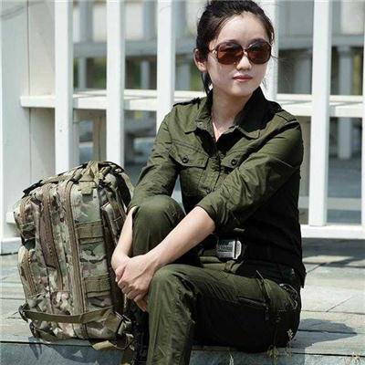 户外女装作训服套装 军装纯棉军绿101空降师套装休闲迷彩服衬衣