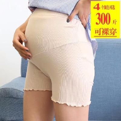 孕妇安全裤防走光2020薄夏装孕妇打底裤加大码荷叶边孕妇短裤新款