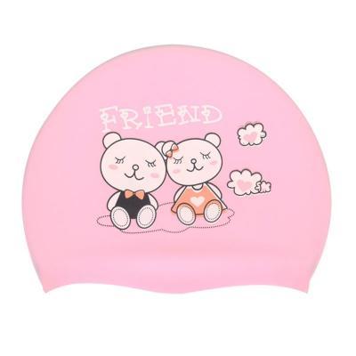 儿童硅胶泳帽女长发防水男孩不勒头舒适游泳帽男女童学生游泳帽