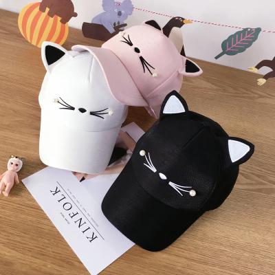 亲子款帽子女夏天韩版猫咪耳朵棒球帽女秋冬季百搭鸭舌帽潮帽儿童