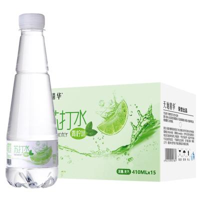 【天地精华】青柠味苏打水410ml*15瓶无糖无汽弱碱性饮料整箱包邮