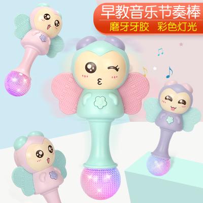 新生婴儿玩具0-1岁手摇铃牙胶音乐节奏棒男女宝宝3-6-12个月益智5