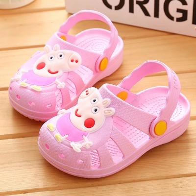 【清仓特价】夏季儿童学步鞋男童宝宝女童公主小孩防滑软底包头鞋